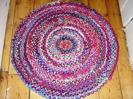 Rug made from old children's tights
